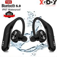 Wasserdicht Wireless Kopfhörer Bluetooth Ohrhörer 5.0 Sports Stereo Bass Headset