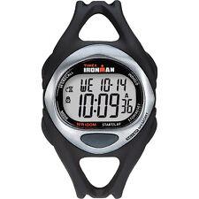 Timex Ironman Triathlon 50 Lap Full Size Black Silver Watch