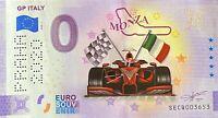 BILLET 0  EURO GP ITALY MONZA COULEUR ITALIE 2020 NUMERO DIVERS