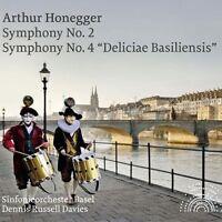 DENNIS RUSSELL DAVIES/SO BASEL - SINFONIEN 2+4  CD NEU ARTHUR HONEGGER