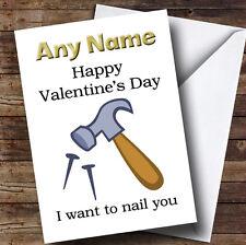 Happy Valentines, je tiens à vous ongles personnalisé Valentines carte