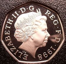 Proof Great Britain 1998 50 Pence~Only 100,000 Minted~Proofs Are Best Coins~Fr/S