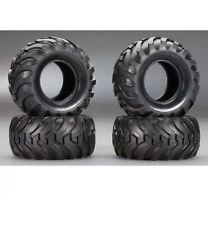 New Tamiya 2.2 Chrome Wheels & Tires Set Mountaineer Bruiser Vintage Scale