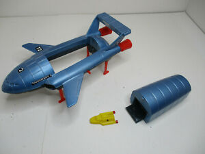 DINKY TOYS # 106 THUNDERBIRDS # 2 and 4 .RESTORED TO NEAR MINTY! RARE RED LEGS.