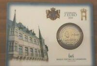 Coincard mit 2 Euro Gedenkmünze Luxemburg 2019 - Wahlrecht - Mzz Brücke
