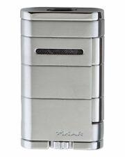 XiKAR 533SL Allume Double Flame Cigar Lighter Silver Lifetime Warranty