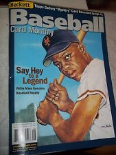 SAY HEY WILLIE MAYS BECKETT BASEBALL PRICE GUIDE AUGUST 2001 ISSUE #197