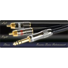 """CEntrance Reserve Series audiophile Y-cable w/stereo 1/4"""" plug to Dual-RCA plugs"""