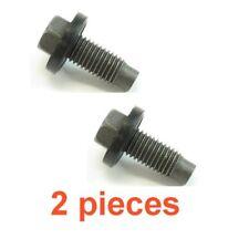 (2) 12mm 1.75 15mm Hex Drain Plugs W/ Molded Gaskets RPL AJ0310404 XW4Z 6730-BA