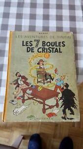 TINTIN LES 7 BOULES DE CRISTAL 1949 SAPHO