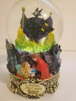 Disney Store Master of Animation Maleficent Sleeping Beauty Snowglobe Music Box