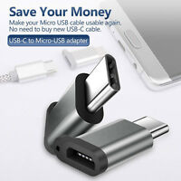 Micro USB to Type C Adapter Charging Data Sync Converter For Power Bank Macbook