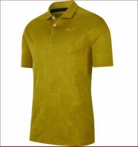 new Nike Breathe Golf men shirt polo stay cool standard AV4176-393 gold sz L $65