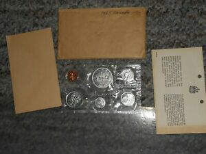 1965 CANADA CANADIAN SILVER PROOF LIKE SET SIX COINS GEM BU ORIGINAL PACKAGING