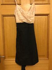 TFNC Black Mini Dress with Cream Lace Top, Size Large