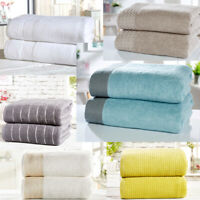2 piece / pair of Bath Sheets in Super Soft Absorbent 100% Combed Cotton