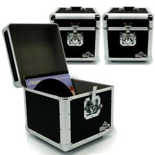 "Gorilla LP100 12"" Vinyl Record Box DJ Storage Carry Case Black Holds 100 x3"
