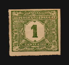 Uruguay Postage Due Ciardi cat #7a imperforated variety - signed
