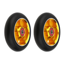 """2pcs Replacement 3.9"""" Kick/Stunt Scooter Wheels with Abec-9 Bearings Gold"""