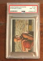 Stephen Curry 2009 Panini Sticker #189 PSA 8 - NICELY CENTERED!!