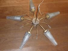 VINTAGE ancien LAMPE old lamp ART DECO applique SUSPENSION lustre VERRE glas