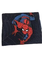 Pottery Barn Kids Spiderman Marvel Comics Navy Blue Twin Quilt