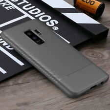 For Samsung Galaxy S9 Plus Slim Carbon Fiber Shockproof Soft TPU Case Back Cover