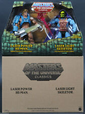 Masters of The Universe Classics 2015 Laser Power He-man and Skeletor 2pack