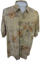 Izod Men Hawaiian ALOHA shirt pit to pit 26 XL camp luau floral tropical party