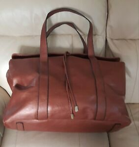 New Quality large holdall /bag brown metallic copper rose gold colour? by BUENO