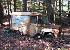 1950s Boice Dairy truck Salvage yard being consumed by nature  8 x 10 photograph