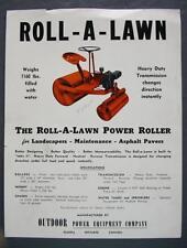 Original Vintage Roll-A-Lawn Outdoor Power Equipment Co. Dealer Sales Sheet