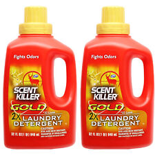 Wildlife Research Laundry Detergent 32oz 2 Pack Gold Scent Killer #01249x2