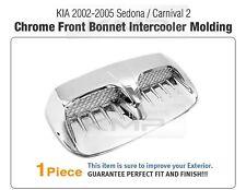 Hood Intercooler Duct Chrome Cover Molding Trim For KIA 2002-2005 Sedona