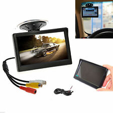"5"" TFT-LCD Color HD Monitor For Car Reverse Rear View Backup Camera AUTO DVD Kit"