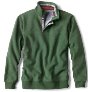 ORVIS Signature Quarter Zip pullover sweatshirt sz XXL Forest EUC $89