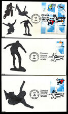 #3321-24 33c Extreme Sports Set of 5 FDC's Kribbs Hand Painted Cachets FD6618