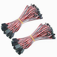 50 x 100cm Servo Extension Lead 26AWG Wire Connector Cable For Futaba