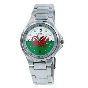 Boxx Mens Analogue Wales Welsh Flag Cymru Metal Bracelet Strap Casual Watch -419