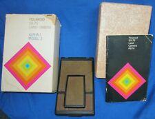 Vintage Polaroid Land Camera SX 70 Alpha 1 Model 2 With Box and Manual