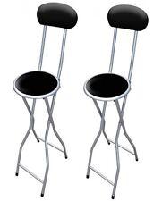 2 XBlack acolchado plegable silla alta Desayuno Cocina Taburete Asiento suave de PVC 94 Cm