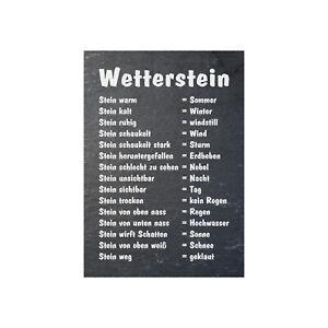 Wetterstein Schild oder Aufkleber DIN A4 Wetter Stein Wetterstation Lustig
