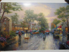 "Thomas Kinkade New York 5th Avenue 2003 Gilcee Print 32/"" x 45/"" Painter of Light"