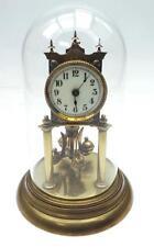 Good Antique 360 Day German Torsion Clock - Anniversary Mantel Clock Under Dome