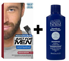 Just For Men Pennello in colore Barba Baffi Capelli Marrone Medio + Shampoo Nisim