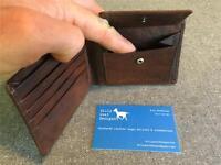 Billy Goat Designs Leather Wallet Coin pocket W2P Bifold men card cash
