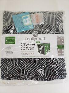 MOLLY MUTT Crate Cover Black/White Geometric Design BIG 36x24x27