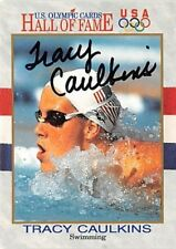 US Olympic Cards 1991 Impel HOF #45 Tracy Caulkins Swimming Gold Medal