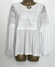 D*rothy P*rkins Sample Ivory Jersey Lace Detail Top Size 12 (43)