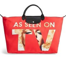 NWT Authentic LONGCHAMP x Jeremy Scott  Le Pliage As Seen on TV Red Tote ~ XL